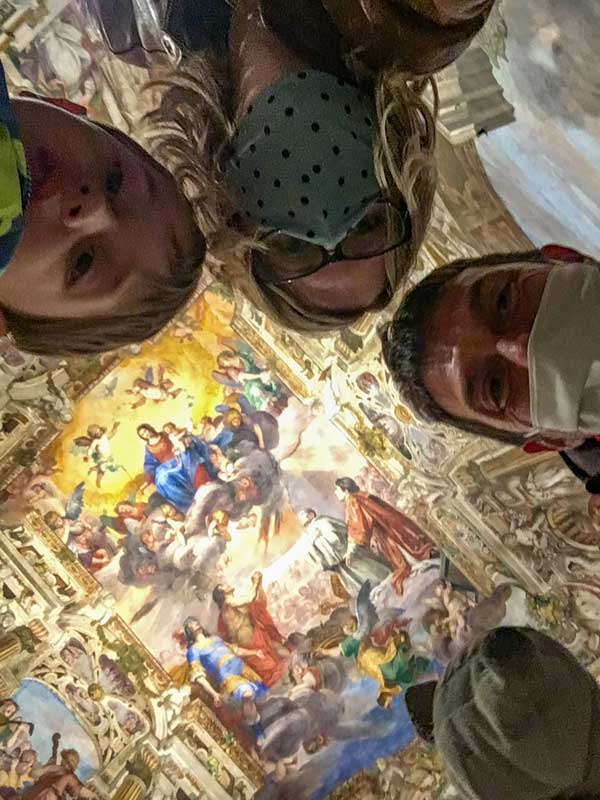 selfie famiglia Palazzo Ducale Genova